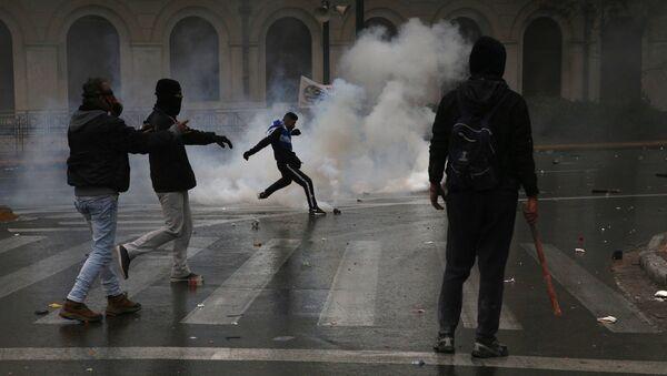Protesty v Aténách - Sputnik Česká republika