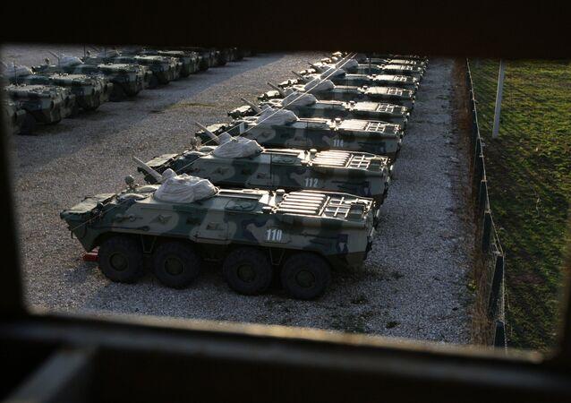 BTR v Abcházii. Ilustrační foto