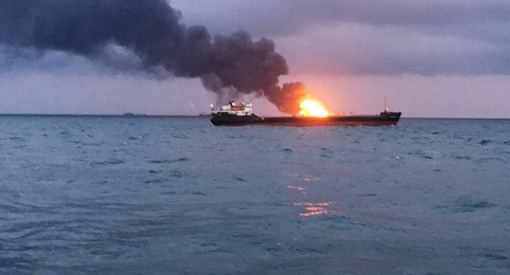 Požár v Kerčském průlivu
