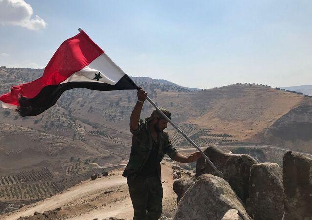 Syrský voják v provincii Dar'á