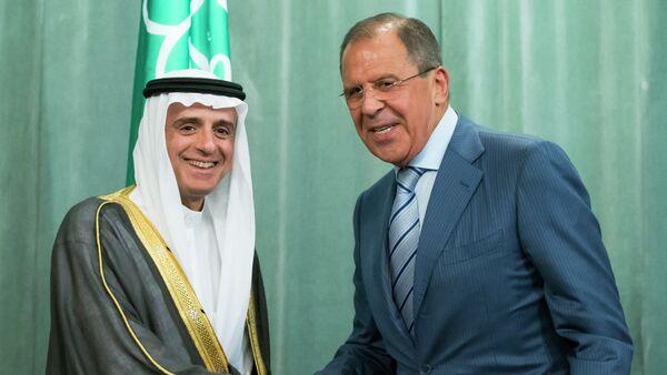 Sergej Lavrov a Adel bin Ahmed al-Džubír - Sputnik Česká republika