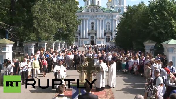 Petrohrad: Bohoslužba k uctění památky námořníků z ponorky Kursk - Sputnik Česká republika