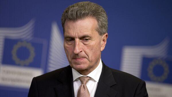 Günther Oettinger - Sputnik Česká republika