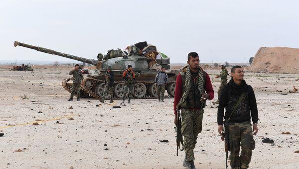 Syrská vládní vojska v provincii Idlib - Sputnik Česká republika