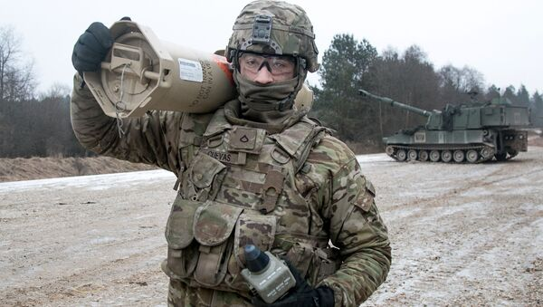 Americký voják při cvičení v Německu - Sputnik Česká republika