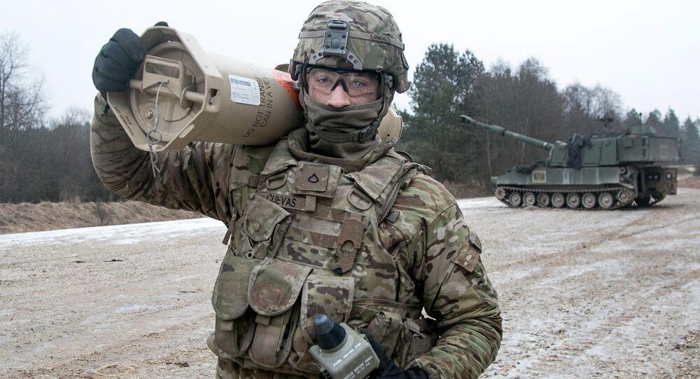 Americký voják běhěm cvičení v Německu. Archivní foto.
