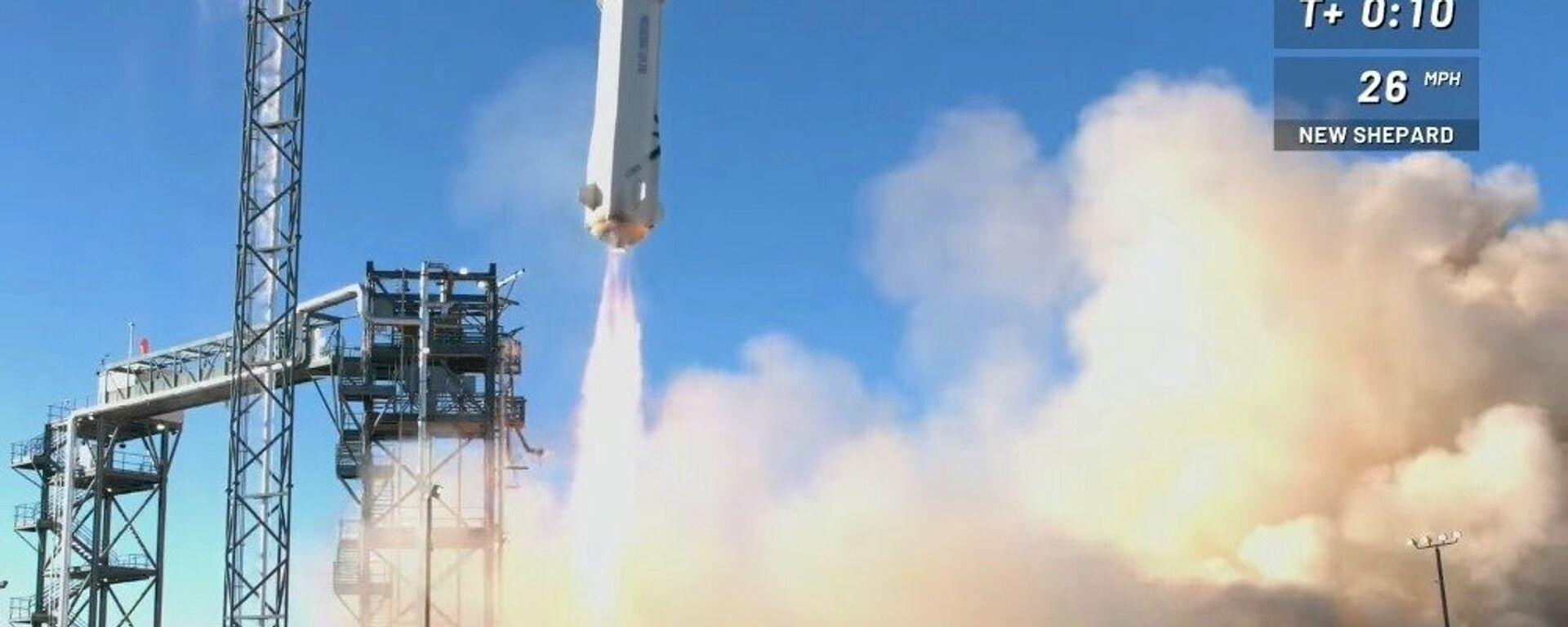 Blue Origin úspěšně otestoval zabijáka rakety Elona Muska - Sputnik Česká republika, 1920, 24.01.2019