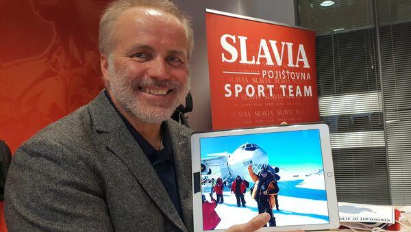 Část cesty k jižnímu pólu absolvoval Pavel Sehnal na palubě ruského letadla Iljušin Il-76 - Sputnik Česká republika
