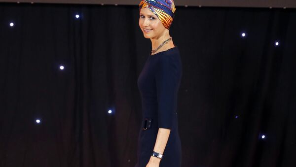 Asma Asadová manželka Bašára Asada, syrského prezidenta - Sputnik Česká republika
