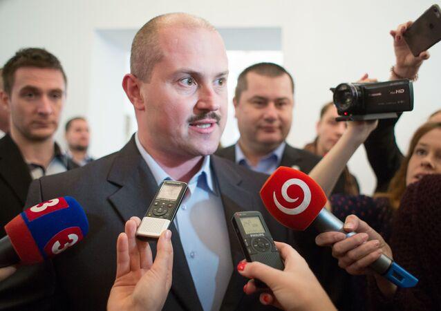 Šéf politické strany ĽSNS Marian Kotleba