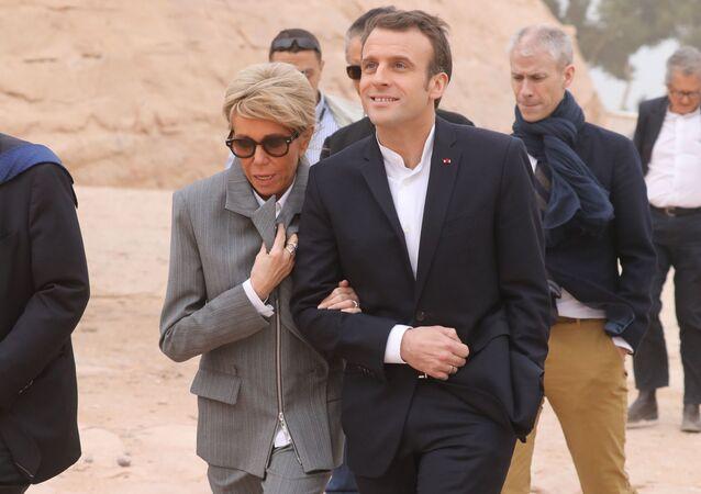 Emmanuel Macron a jeho manželka Brigitte