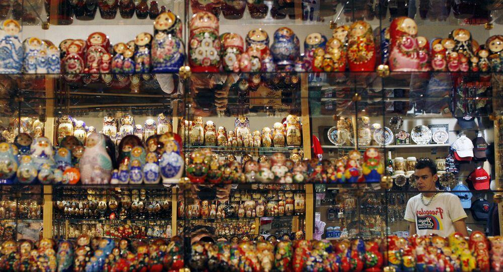 Prodej matrjošek v Praze