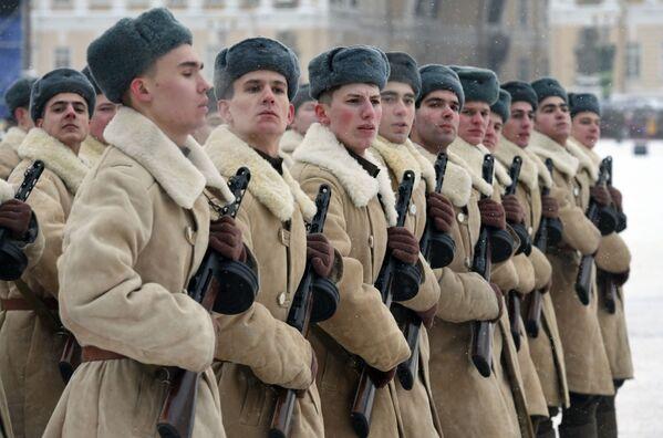 Vojenská přehlídka na počest 75. výročí prolomení blokády Leningradu - Sputnik Česká republika