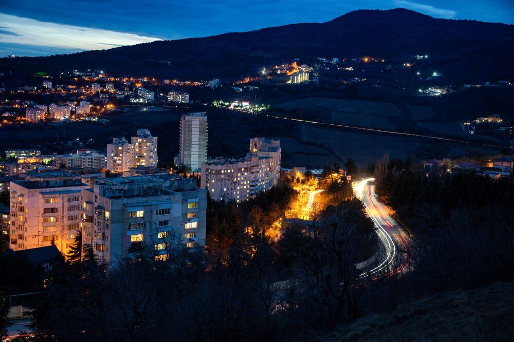 Výhled na Jaltu na Krymu