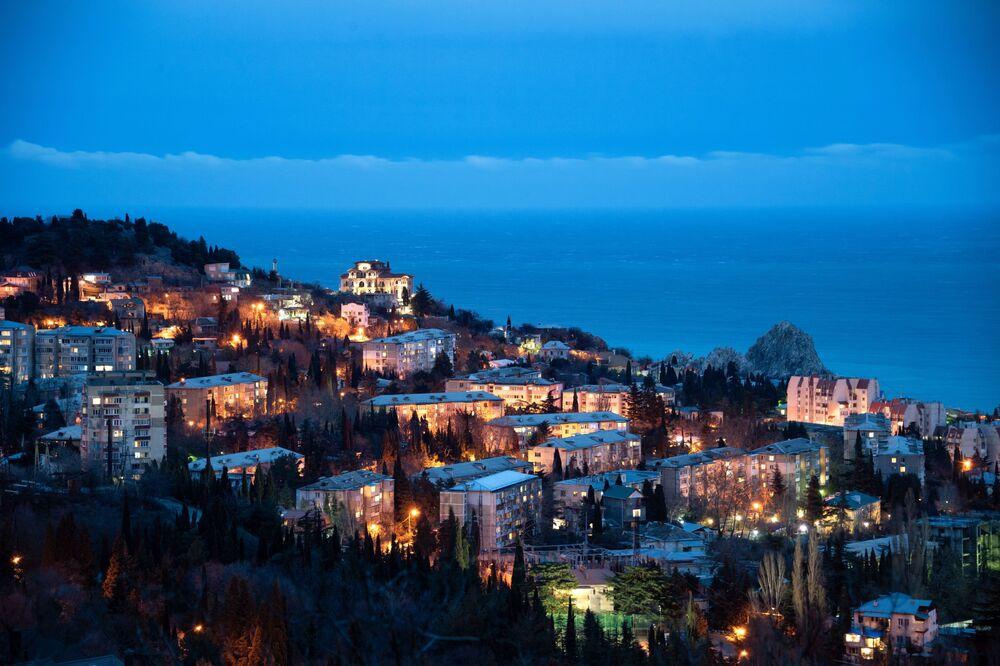 Město Gurzuf na Krymu