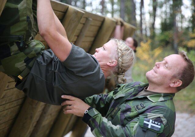 Trénink švédských kadetů. Ilustrační foto
