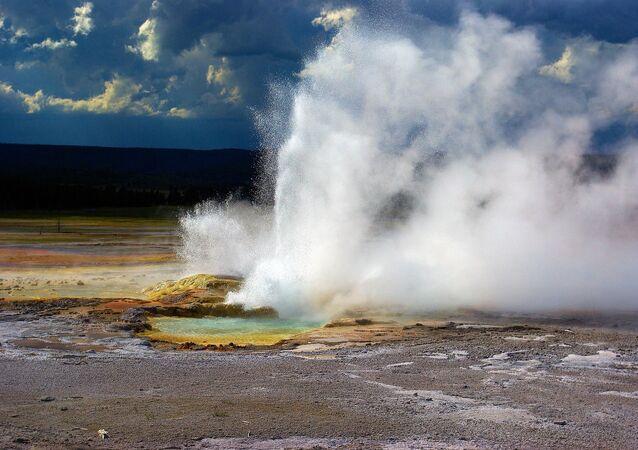 Gejzír v Yellowstonském národním parku