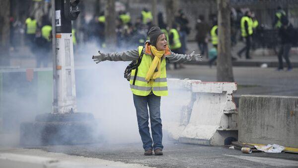 Protestní akce žlutých vest v Paříži - Sputnik Česká republika