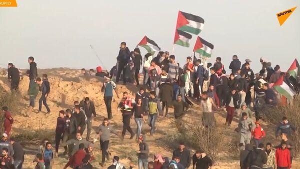 Protest na hranici pásma Gazy byl doprovázen izraelskou střelbou - Sputnik Česká republika