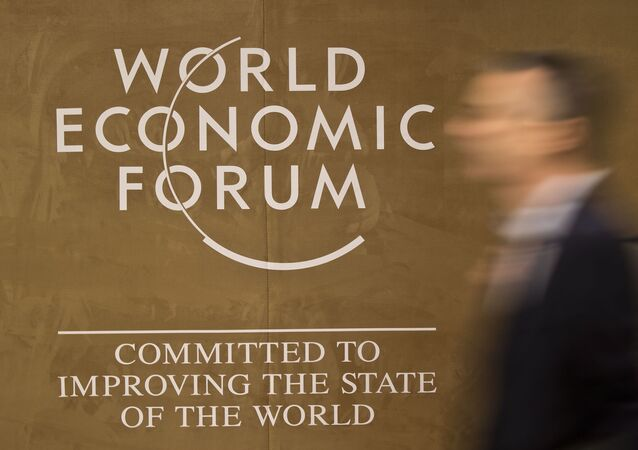 Logo světového fóra v Davosu