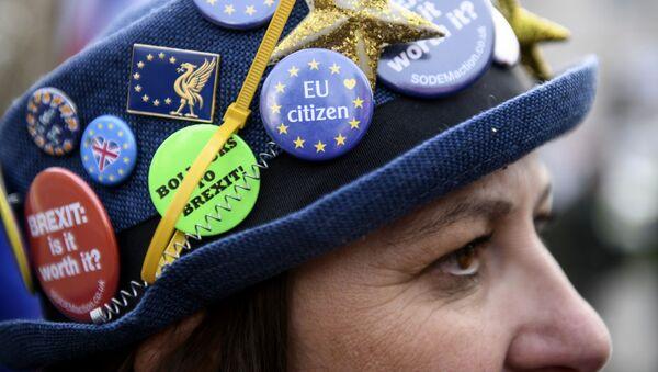 Protestní akce proti brexitu v Londýně - Sputnik Česká republika