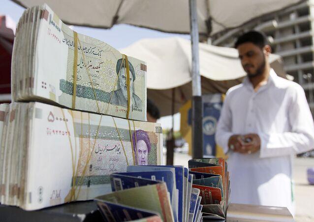 Íránská měna ve městě Nadžaf