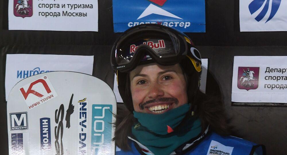 Eva Samková při Světovém poháru 2018 v Moskvě