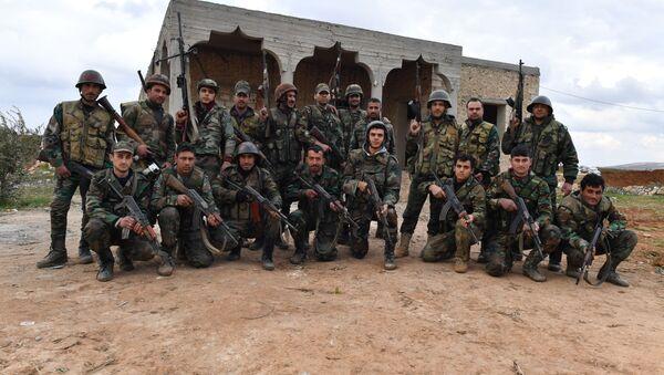 Syrští vojáci - Sputnik Česká republika