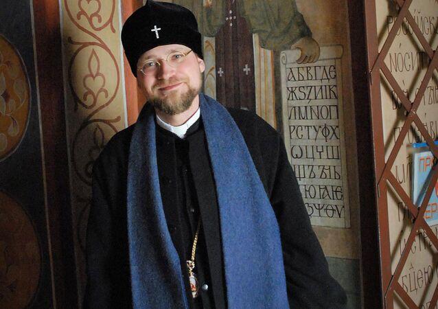 Představitel Pravoslavné církve v českých zemích a na Slovensku, arcibiskup Michalovsko-Košický Juraj (Stránský)