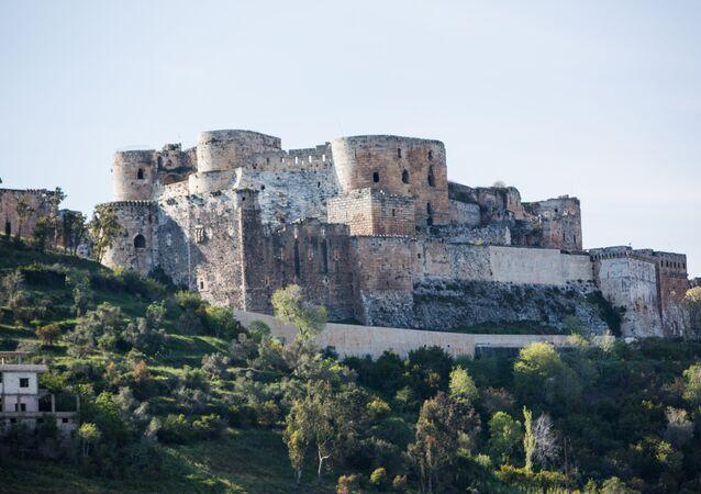 Pevnost Krak des Chevaliers v Sýrii