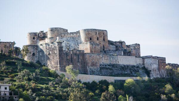 Pevnost Krak des Chevaliers v Sýrii - Sputnik Česká republika