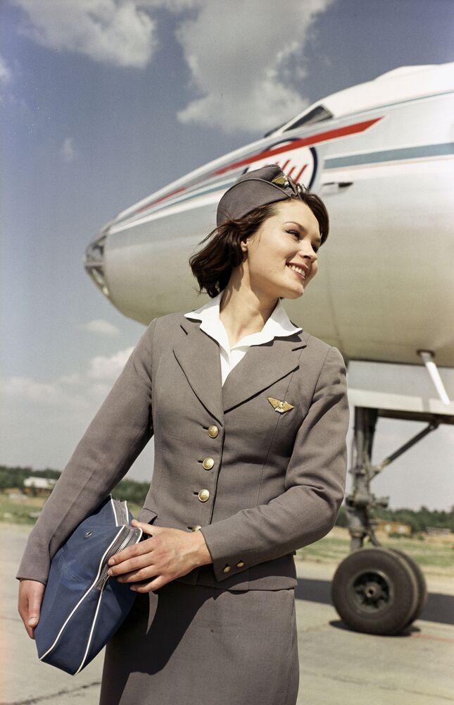 Letuška Aeroflotu na letišti Vnukovo