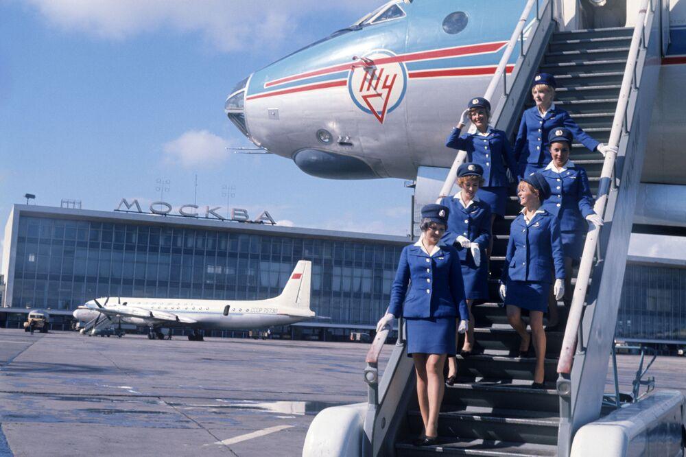Na moskevském letišti Domodědovo