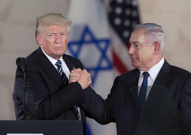 Donald Trump a Benjamin Netanjahu