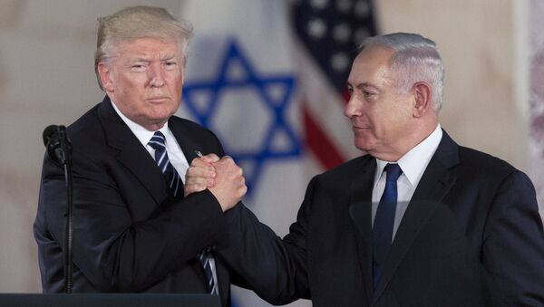 Donald Trump a Benjamin Netanjahu - Sputnik Česká republika