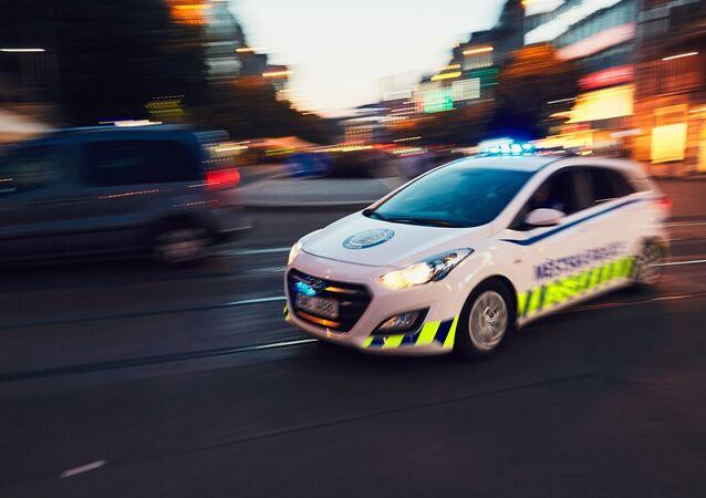 Policejní auto v Praze