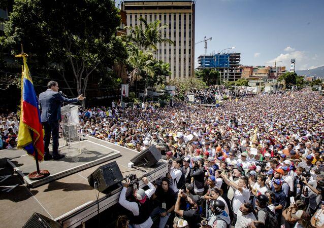 Demonstrace ve Venezuele. Ilustrační foto
