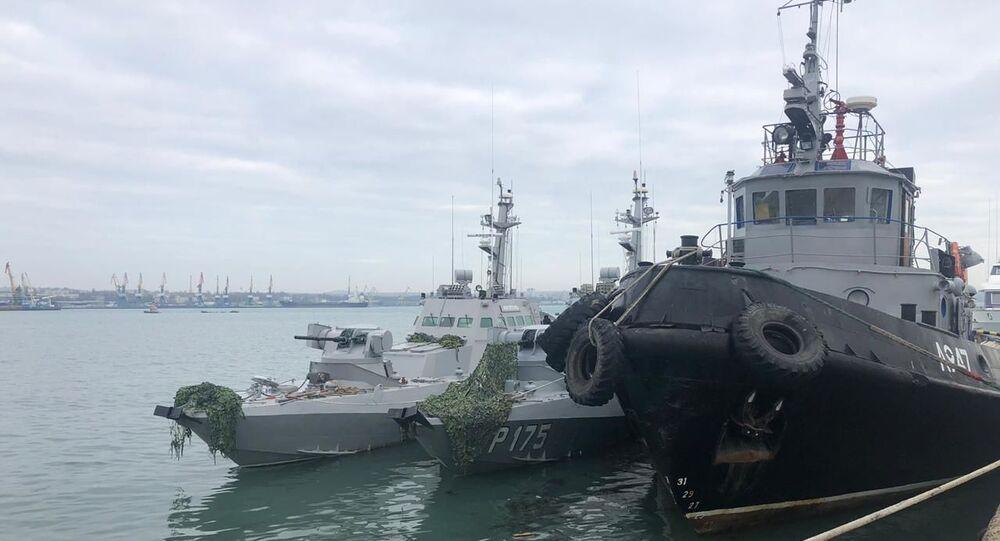 Zadržené ukrajinské lodě