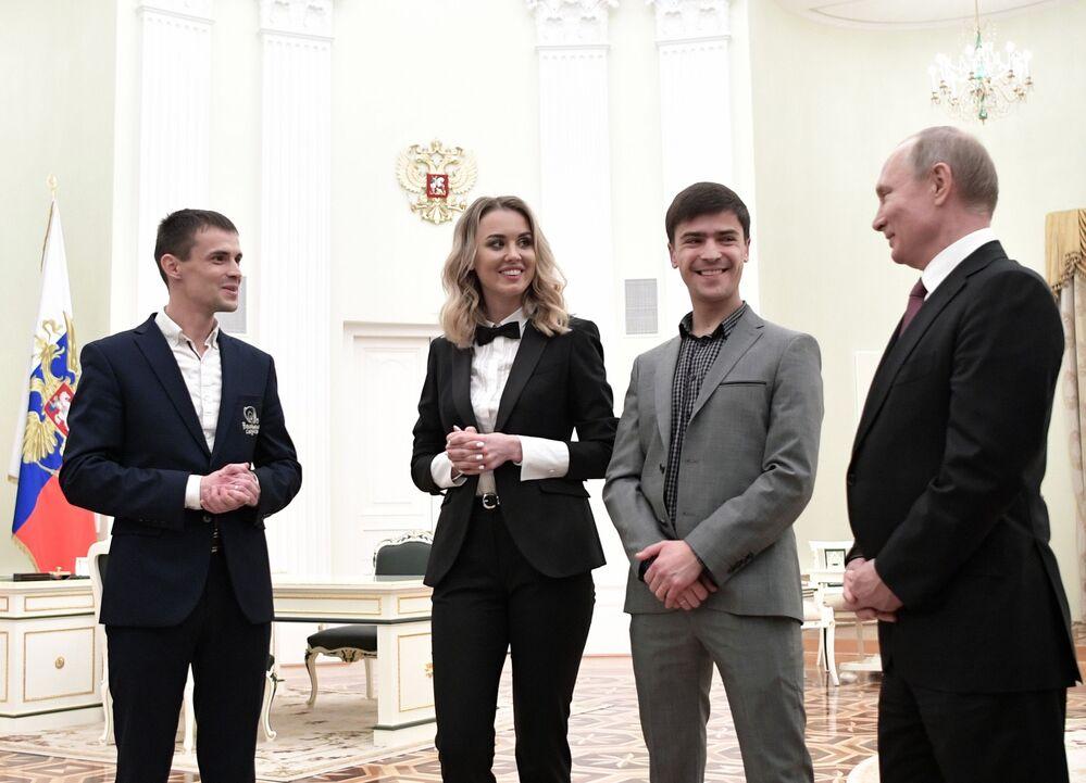 Ruský prezident Vladimir Putin během setkání s vítězi národní ceny Velký byznys 2019.