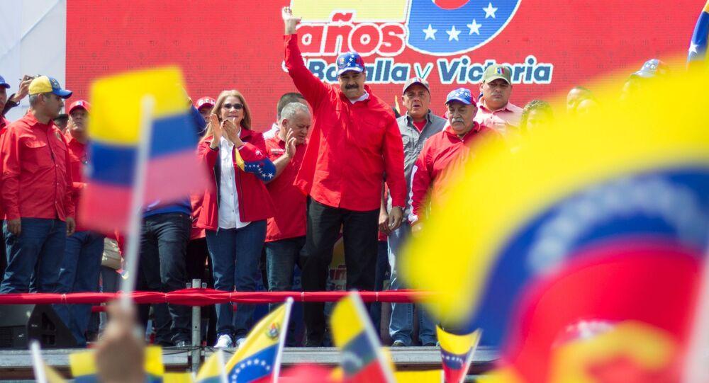 Prezident Venezuelské republiky Nicolas Maduro