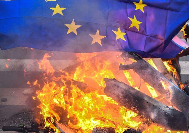 Vlajka EU. llustrační foto