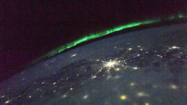 Polární záře z ISS - Sputnik Česká republika