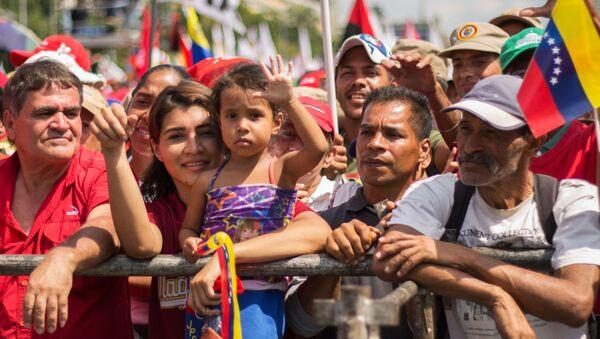Akce na podporu venezuelského prezidenta Nicoláse Madura - Sputnik Česká republika