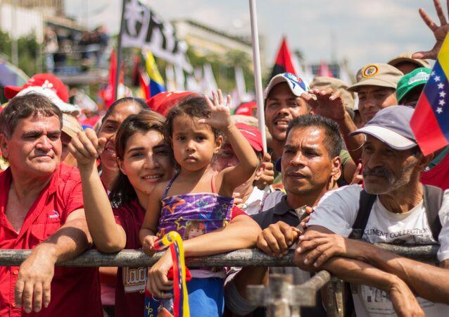 Akce na podporu venezuelského prezidenta Nicoláse Madura