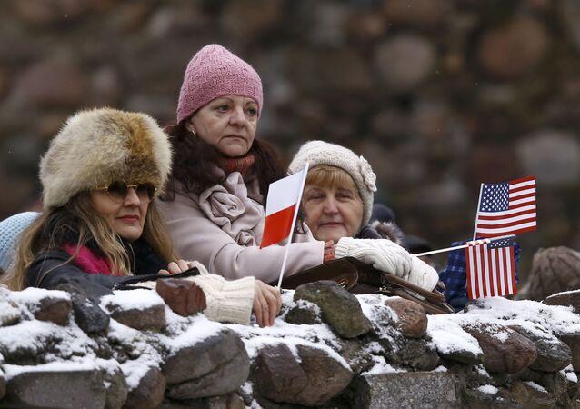 Poláci vítají americké vojáky