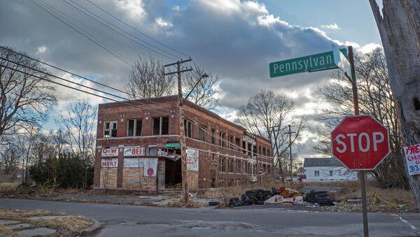Opuštěné budovy v Detroitu - Sputnik Česká republika