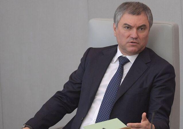 Předseda Státní dumy RF Vjačeslav Volodin