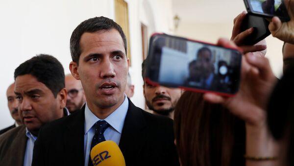 Předseda venezuelského parlamentu Juan Guaidó - Sputnik Česká republika