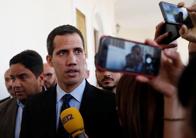 Vůdce venezuelské opozice, předseda Národního shromáždění Juan Guaidó