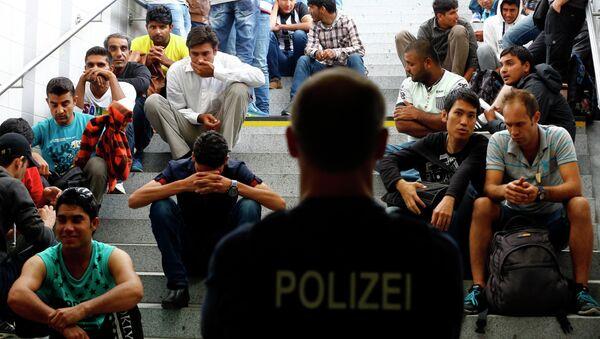 Migranti v Německu - Sputnik Česká republika